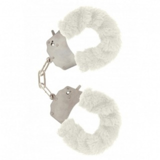 ToyJoy Furry Fun Cuffs handboeien (Wit)