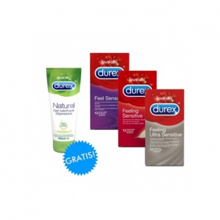 Durex Ultra Dun pakket (Feeling Sensual + Senstive + Ultra Sensitive + Naturel gel)