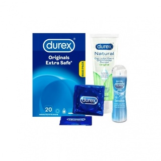 Durex Intimate Giftbox (Extra Safe 20 + Sensitive 50ml + Naturel Gel)