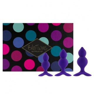 FeelzToys - Bibi Twin Butt Plug Set 3st (Paars)