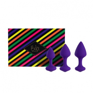 FeelzToys - Bibi Butt Plug Set 3st (Paars)