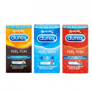 Durex Emoji Feel Fun Trio (Feel fun-Feel safe-Feel thin)